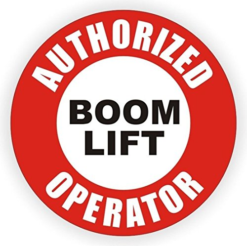 1-Pcs Ideal Popular Authorized Boom Lift Operator Vinyl Stickers Sign Shop Decor Tow Motor Forklift Pallet Size 2