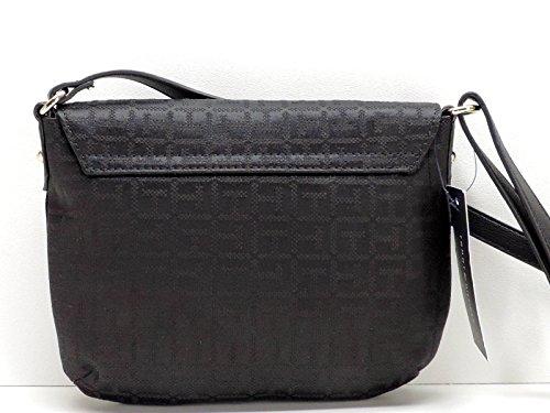 Flap Black Crossbody Handbag Tommy Front Hilfiger x4wqUP0z