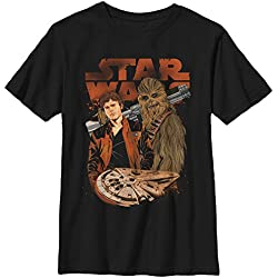 Solo: A Star Wars Story Boys' Co-Pilot Cartoon Black T-Shirt