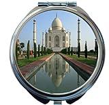 Rikki Knight Taj Mahal, Agra, India Design Round Compact Mirror