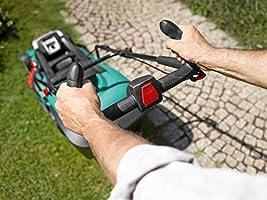 Bosch Home and Garden 06008A4409 Cortacésped con batería de Litio, 36 W, 36 V, Negro, Verde, 37 cm