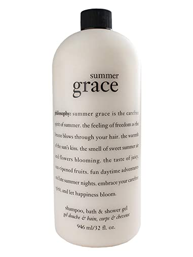 Philosophy Summer Grace Shampoo, Bath & Shower Gel 32 Fl. Oz Jumbo Size