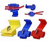 G·PEH 125 Solderless Quick Splice Snap Wire Connector, 50 pcs red 22 Through 18 Gauge,50 pcs Blue 16 Through 14 Gauge,25…