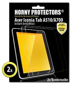 Horny Protectors 8969 - Protector de pantalla para Acer Iconia Tab A510/A700, transparente