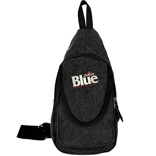 canada-labatt-blue-beer-sports-unbalance-backpack-sling-bag-for-men-canvas-chest-pack-hiking-bag