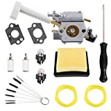 Podoy Bp42 Carburetor for Ryobi RY08420A RY08420 308054093 308054079 Backpack Blower with 900777005 Air Filter 530069247 Repower Kit