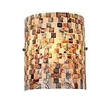 Chloe Lighting CH3CD28BC08-WS1 Shelley Mosaic 1-Light Wall Sconce, 9.8 x 8.3 x 4.1