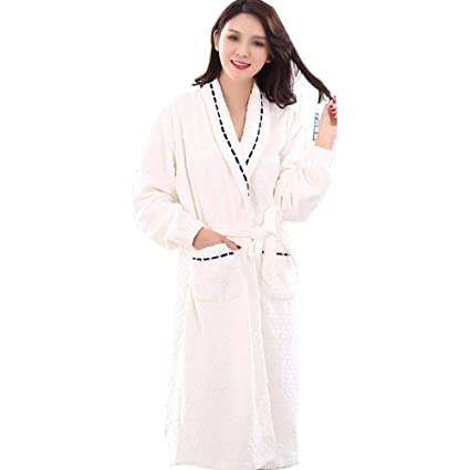 50803c2d7c44 Amazon.com  HUIFEI Ladies Pajamas Flannel Autumn and Winter White ...