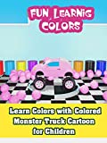 Learn Colors with Colored Monster Truck Cartoon for Children