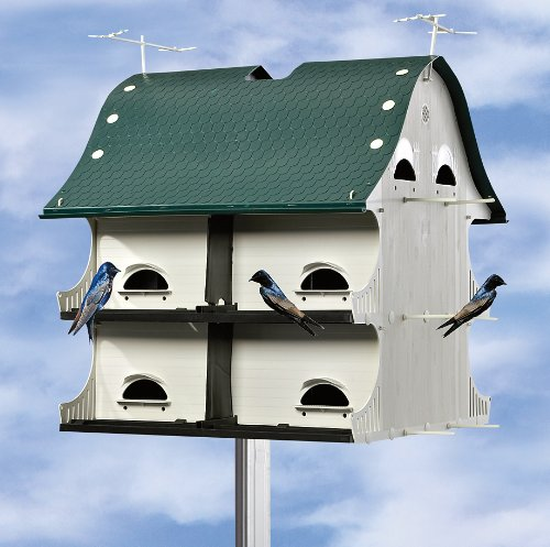 S & K Mfg. 12-room American Barn Purple Martin House 12 Room Purple Martin House