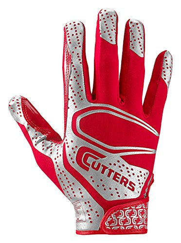 Cutters Rev 2.0 Receiver Gloves, Pair, Adult,Large,RED by Cutters