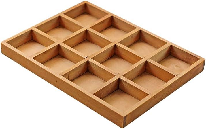 BovoYa Caja de Madera Multifuncional, 12 Compartimentos, Vintage ...