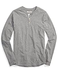 Men's Long-Sleeve Slub Henley Tee