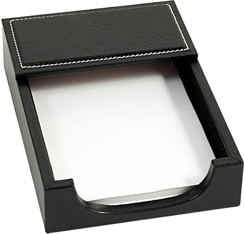 Black Leather Memo Holder