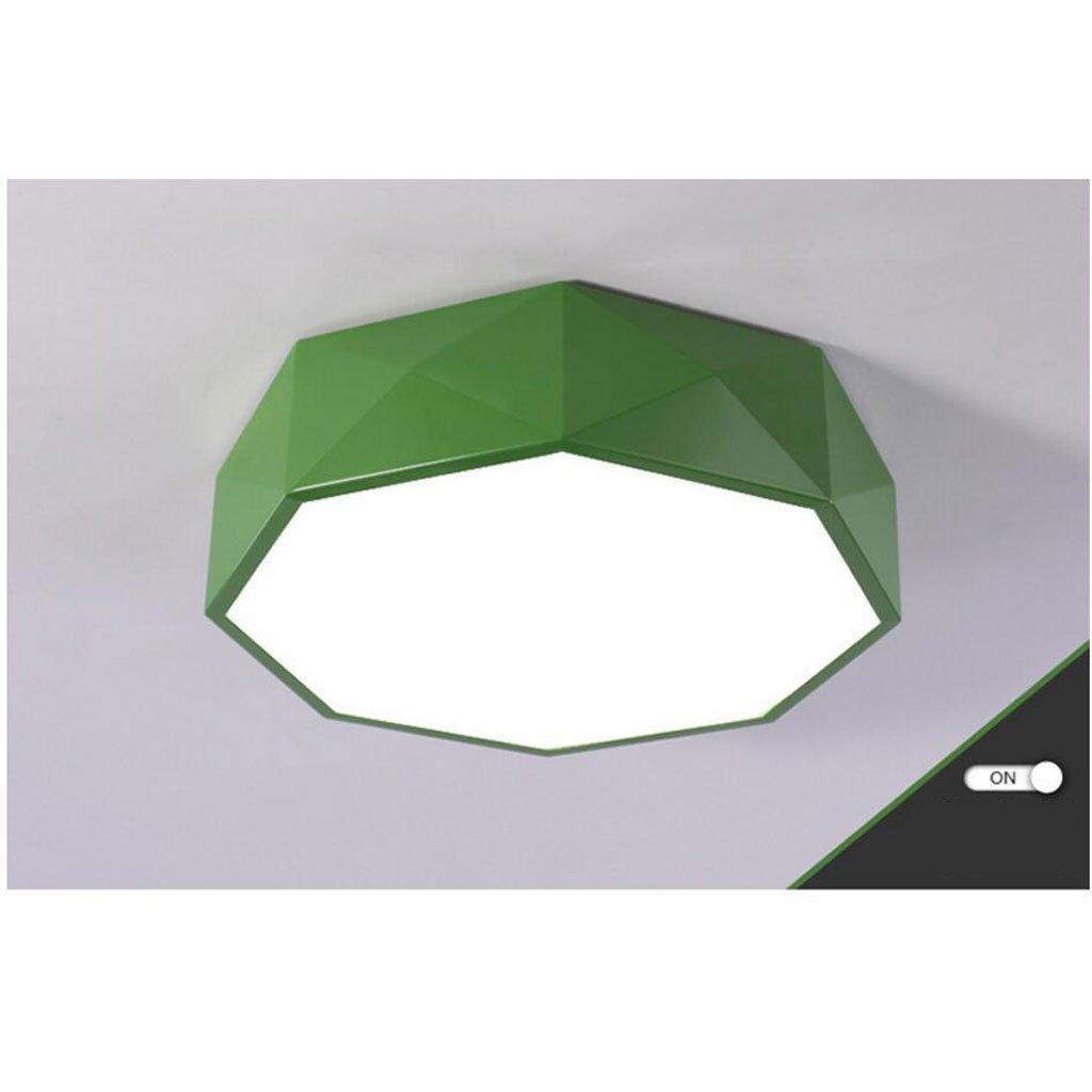天井の明るい色の幾何学の子供の性格マルチラインのリビングルームモダンシンプルな寝室の研究 ( Color : Green , Size : C(with remote control) ) B07BRMJK6M 24933 C(with remote control)|Green Green C(with remote control)