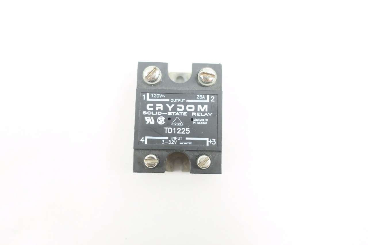 Crydom Td1225 Solid State Relay 3 32v Ac 120v 25a Amp D577427 Industrial Scientific