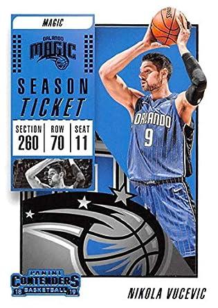 f891e2f86b2 2018-19 Panini Contenders Season Ticket  5 Nikola Vucevic Orlando Magic NBA  Basketball Trading