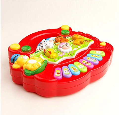 [New Musical Educational Animal Farm Piano Developmental Music Toy for Baby Kids] (Cats Musical Halloween Costumes)