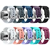 GreenInsync Compatible Fitbit Versa Band, Replacement for Fitbit Versa Smartwatch Accessory Bands Silver Buckle Adjustable Wristbands Small for Fitbit Versa Women Men Girls Boys,No Tracker-10pack Review