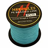 HERCULES 300m 328yds Blue 10lbs-300lbs Pe Braid Fishing Line 8 Strands (40lb/18.1kg 0.32mm) Review