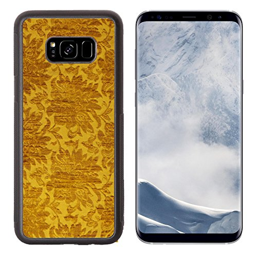 Liili Premium Samsung Galaxy S8 Plus Aluminum Backplate Bumper Snap Case IMAGE ID 32500952 Vintage Golden Silk Pattern Background (Backrest Pattern)