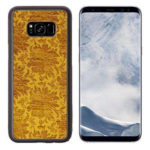Liili Premium Samsung Galaxy S8 Plus Aluminum Backplate Bumper Snap Case IMAGE ID 32500952 Vintage Golden Silk Pattern Background (Backrest Pattern)