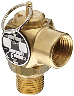 "Apollo Valve 10-512 Series Brass Safety Relief Valve, ASME Steam, 35 psi Set Pressure, 1/2"" NPT Male x Female from Conbraco"