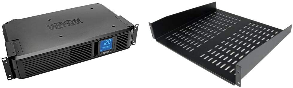 Amazon Com Tripp Lite 1500va Smart Ups Battery Back Up 900w Rack Mount Tower Startech Com 2u Server Rack Shelf Vented Cantilever Shelf For A Rack Or Cabinet Fixed 50lbs 22kg
