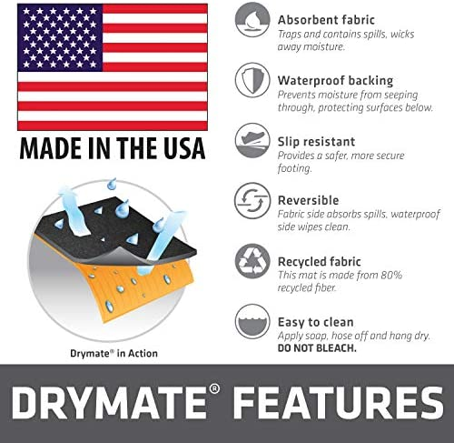 "Drymate Cargo Liner Mat (58"" x 72""), Seat Cover/Trunk Liner - Absorbent/Waterproof/Machine Washable - Protects Vehicle Interior, for SUVs, Trucks, Vans, Cars, and Dogs (Made in The USA)"