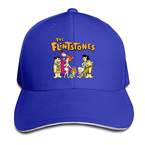[Logon 8 The Flintstones Unisex Baseball Cap RoyalBlue One Size] (Fred And Wilma Costumes To Make)