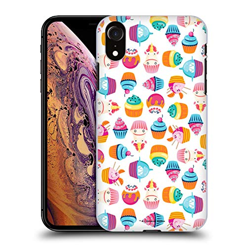 Official Despicable Me Unicorn Cupcake Pattern Fluffy Confection Hard Back Case Compatible for iPhone -