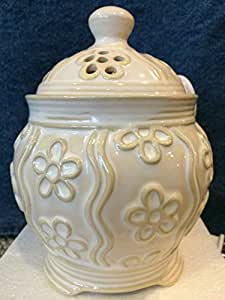 Everyday Ceramic Ivory Denby Floral Electric Wax Melts Warmer Wax Melts Warmer - Yankee Candle
