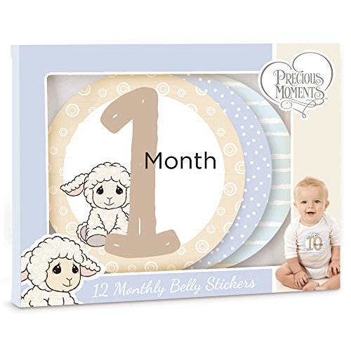 Precious Moments 172426 Baby's First Year Monthly Milestones Baby Belly Sticker Set ()