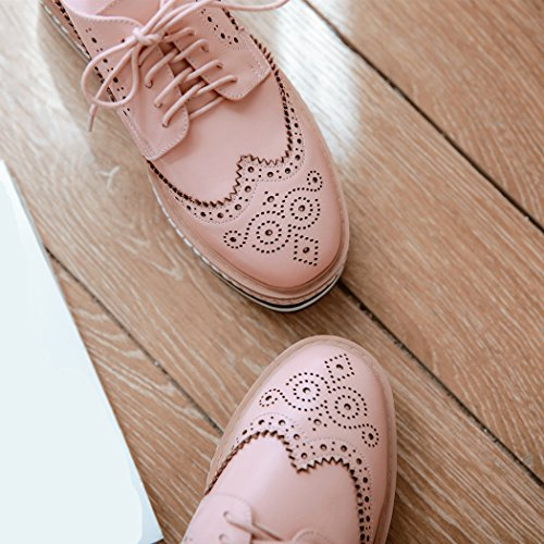 Oxford Femme Rose ANNIESHOE Plateforme Confortable Derbies Fgqpwnp64