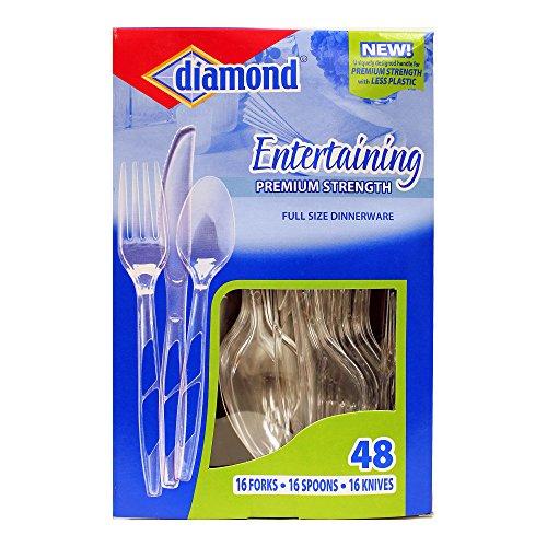 Diamond 4142600205 Disposable Cutlery, Clear