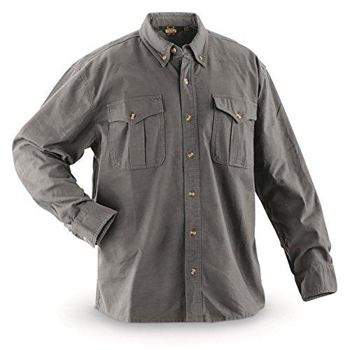 Guide Gear Men's Cotton Chamois Shirt, Heather Gray, XL Tall