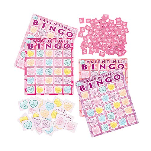 Fun Express - Valentine's Day Bingo Game for Valentine's Day - Toys - Games - Carnival & Bingo - Valentine's Day - 21 Pieces