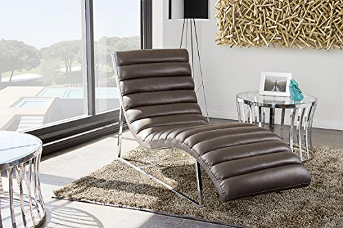 Chaise Lounge in Elephant Gray