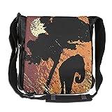 Lovebbag Africa Theme A Tree And An Elephant Under Sunshine Crossbody Messenger Bag