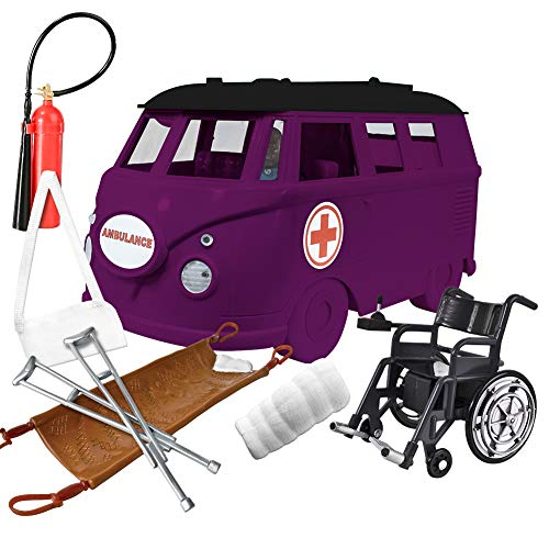 Deluxe Ambulance Playset for WWE Wrestling Action Figures: Purple