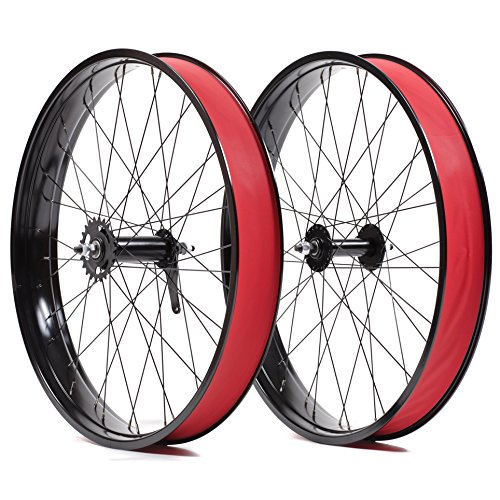State Bicycle Fat Bike Single Speed Front/Rear Wheel Set, (Front Wheel Single)