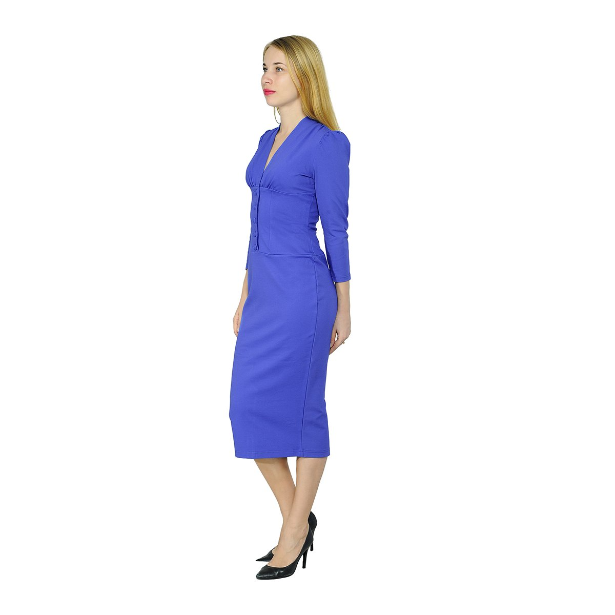 caa1f7eb037 Marycrafts Women s Vintage 1940s Pencil Dress Work Office Cocktail at  Amazon Women s Clothing store
