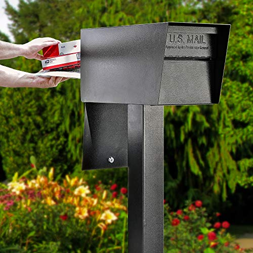 - Mail Boss 7526 Mail Manager Street Safe Locking Security Mailbox, Black