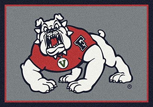 NCAA Team Spirit Rug - Fresno State Bulldogs, 5'4'' x 7'8'' by