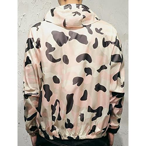 26be8793bf1a well-wreapped Zago Mens Summer Print Sun Protection Windbreaker Jacket