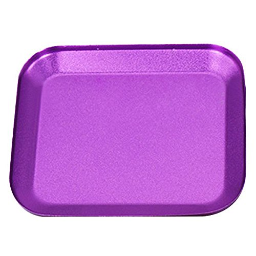 SODIAL(R) Useful Aluminum alloy Screw Tray with Magnetic Pad for RC Model Phone Car Repair Tool purple