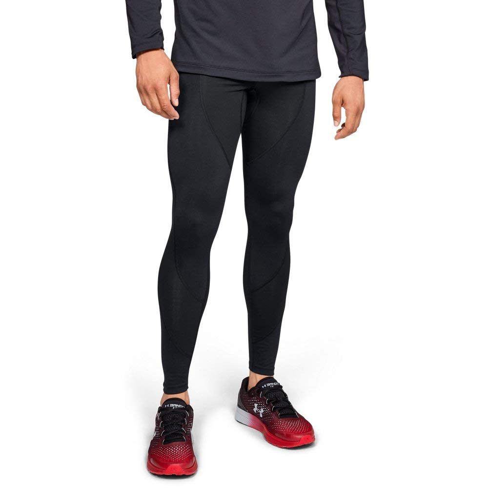 Under Armour Men's Coldgear Reactor Run Sp Tights V2, Black (001)/Reflective, X-Large