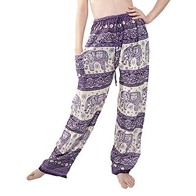 Rita & Risa Women's Elephant Long Loose Pajama PJ Sleep Bottoms Pants