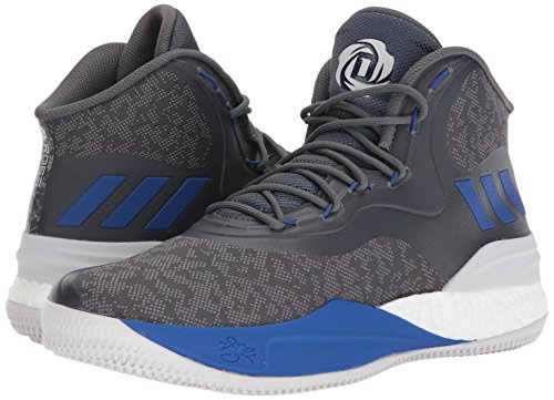 adidas Men's D Rose 8, Grey Three/Blue/Grey Five, 10.5 Medium US
