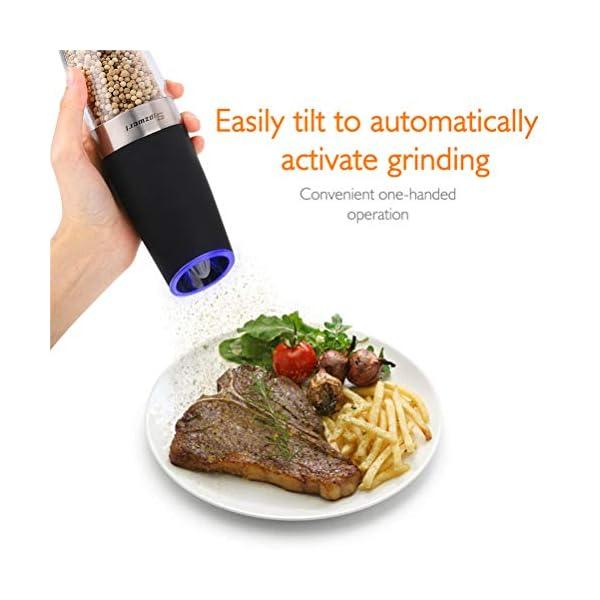 Macinapepe Elettrico, pepe Premium e macina di sale con macina sale elettrico durevole regolabile di precisione… 2